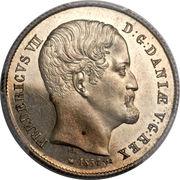 ½ rigsdaler - Frederik VII – avers