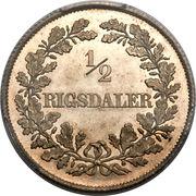 ½ rigsdaler - Frederik VII – revers