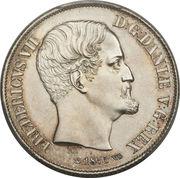 1 rigsdaler - Frederik VII – avers