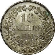 16 skilling Rigsmont - Frederik VII – revers