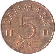 5 øre - Margrethe II -  revers