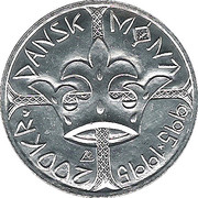200 kroner  (Dansk mønt 995-1995) – revers