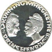 200 kroner - Margrethe II (anniversaire de mariage d'argent) – avers