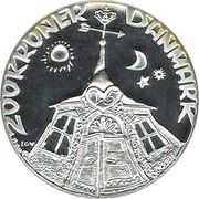 200 kroner - Margrethe II (anniversaire de mariage d'argent) – revers
