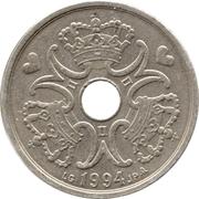 5 kroner - Margrethe II (type avec trou) -  avers
