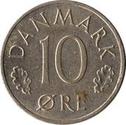 10 øre - Margrethe II -  revers