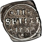 2 Skilling - Frederik II (Seven-Years War coinage) – revers