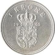1 krone - Frederik IX -  revers