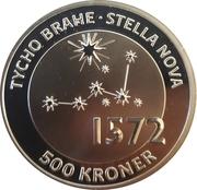 500 Kroner - Margrethe II (Tycho Brahe - Stella Nova) – revers
