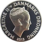 500 Kroner - Margrethe II (Ole Rømer - The speed of light) – avers
