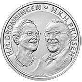 500 Kroner - Margrethe II (Noces  d'or) – avers