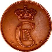 2 øre - Christian IX -  avers