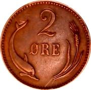 2 øre - Christian IX -  revers
