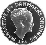 500 Kroner - Margrethe II (Niels Bohr - Atomteori) – avers