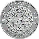 Margrethe II - 500 kroner – revers