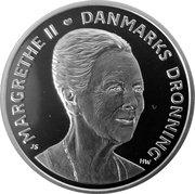 500 Kroner - Margrethe II (75ème anniversaire) – avers
