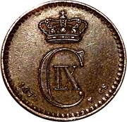 1 øre - Christian IX -  avers