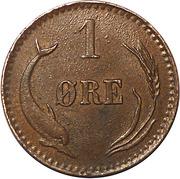 1 øre - Christian IX -  revers