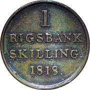 1 rigsbankskilling - Frederik VI -  revers