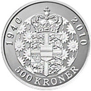 500 kroner - Margrethe II (70ème anniversaire de la reine) – revers