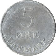 5 øre - Frédéric IX (zinc) -  revers