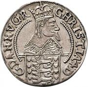 8 Skilling Lybsk Glückstadt- Christian IV – avers