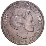 5 kroner - Margrethe II (type sans trou) -  avers