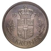 5 kroner - Margrethe II (type sans trou) -  revers