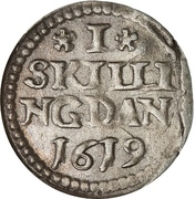 1 Skilling Dansk - Christian IV – revers