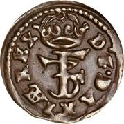 1 Hvid - Frederik III – avers