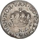 8 Skilling Dansk - Frederik IV (Type II) – revers