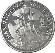 500 Kroner - Margrethe II (yacht royal Dannebrog) – revers