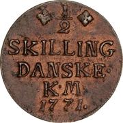 ½ skilling Christian VII – revers