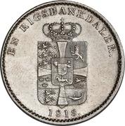 1 rigsbankdaler - Frederik VI – revers