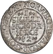 1 Skilling Dansk - Frederik II – revers