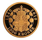 1000 Kroner  Margrethe II (70 th Birthday) – revers