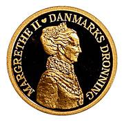 3000 Kroner  Margrethe II (40th Jubilee) – avers