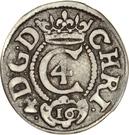 3 Skilling Lybsk Glückstadt- Christian IV – avers