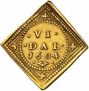6 Daler - Christian IV – revers