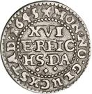 1/16 Reichs Thaler - Christian IV (type II; bust type II) – revers