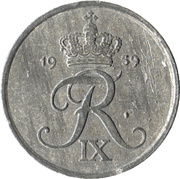 2 øre - Frédéric IX -  avers