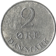 2 øre - Frédéric IX -  revers