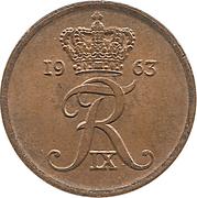 1 øre - Frédéric IX – avers