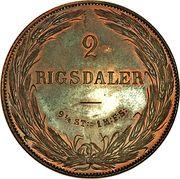 2 Rigsdaler - Frederik VII (Essai) – revers