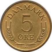 5 øre - Frédéric IX (bronze) -  revers