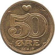 50 øre - Margrethe II -  revers