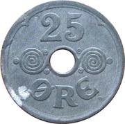 25 øre - Christian X. (Zinc) -  revers