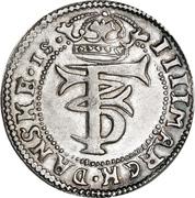 4 Mark Dansk - Frederik III (Type II) – avers