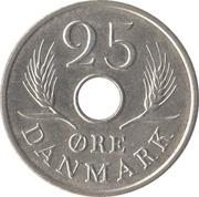 25 øre - Frederik IX (type avec trou) -  revers