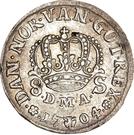 8 Skilling Dansk - Frederik IV (Type I) – revers